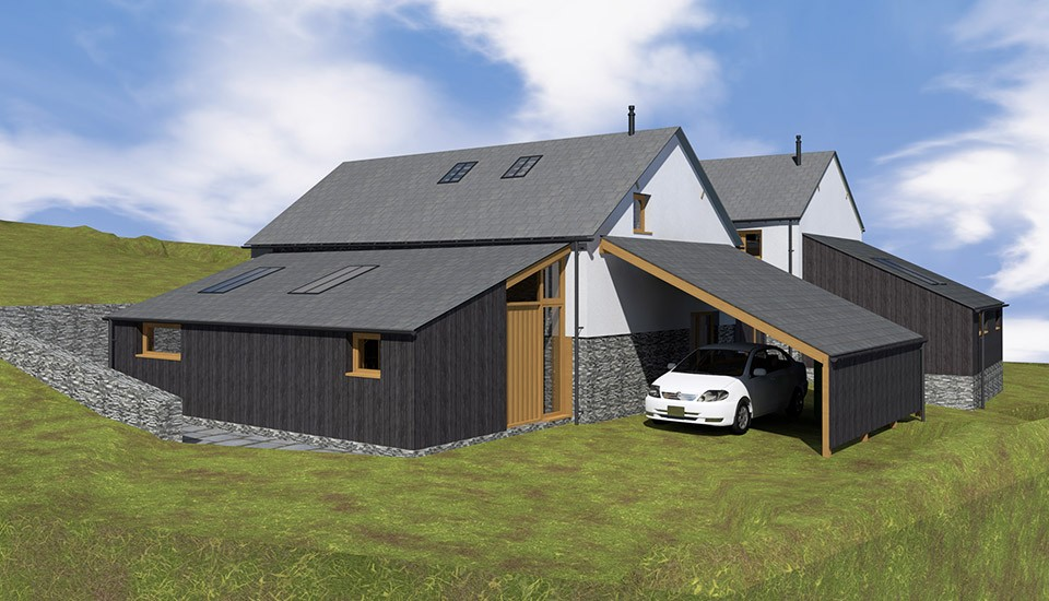 Mockup of barn conversion in Leworthy