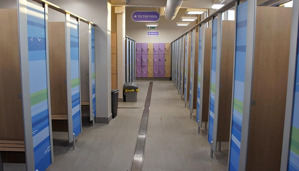 Seton Sands swimming pool changing rooms