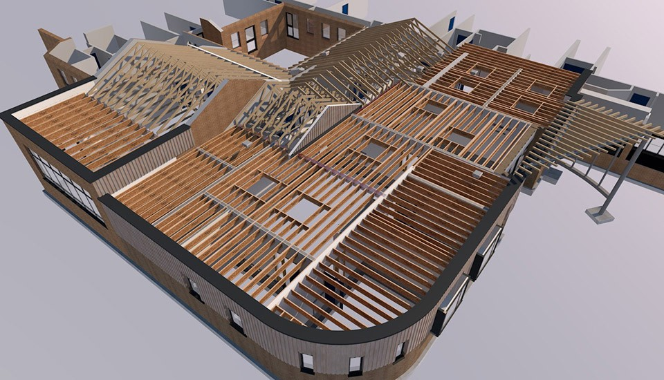 Fiveways school roofing mock-up