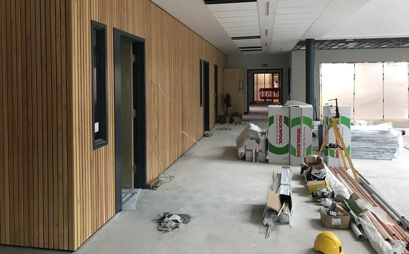 Progress on the Dining Hall Extension at The Castle School