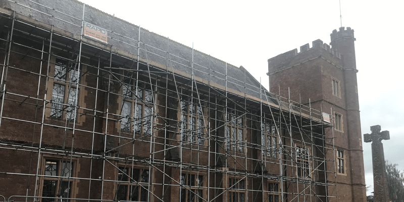 Replacement of Roof Coverings over the Library